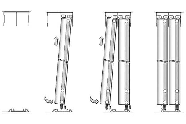 Как установить двери купе в шкафу своими
